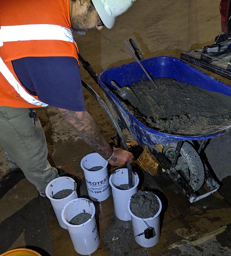 Image of GEOTEST samples being taken