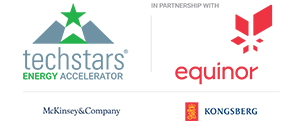 Tech Stars and Equinor logo with McKinsey and Company and Kongsberg logo